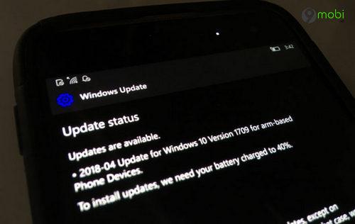 phat hien ban cap nhat windows 10 mobile april 2018 update tren trang microsoft