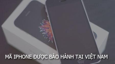 ma iphone duoc bao hanh tai viet nam