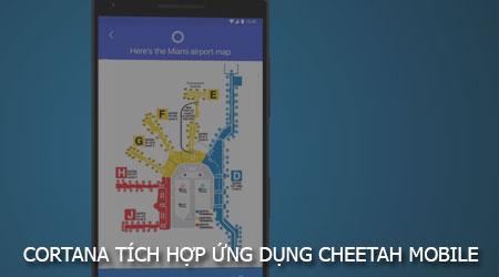 cortana tich hop trong ung dung cua cheetah mobile