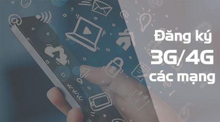 Tổng hợp cách đăng ký 3G,4G mạng Viettel, Vina, Mobi