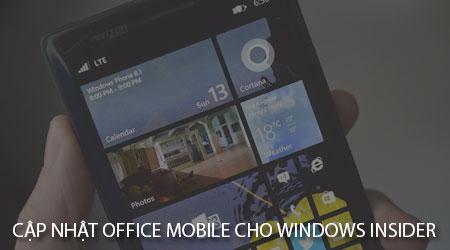microsoft phat hanh ban cap nhat office mobile cho nguoi dung windows insider