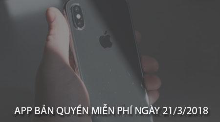 app ban quyen mien phi ngay 21 3 2018 cho iphone ipad