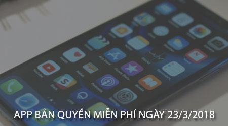 app ban quyen mien phi ngay 23 3 2018 cho iphone ipad