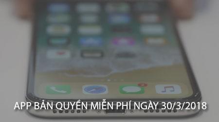 app ban quyen mien phi 30 3 2018 cho iphone ipad