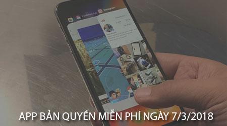 app ban quyen mien phi ngay 7 3 2018 cho iphone ipad