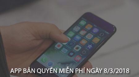 app ban quyen mien phi ngay 8 3 2018 cho iphone ipad