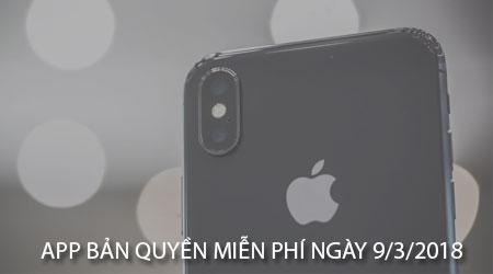 app ban quyen mien phi ngay 9 3 2018 cho iphone ipad