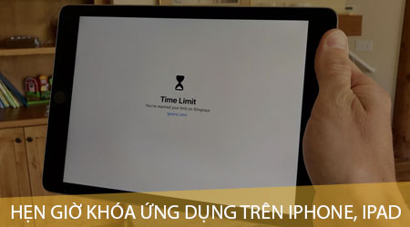cach hen gio khoa ung dung tren iphone ipad