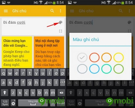 Create notes easily on Android with Google Keep app