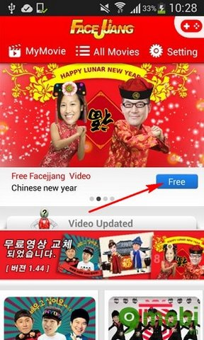 Ghép ảnh vào video bằng Facejjang, ghép khuôn mặt vào video vui nhộn