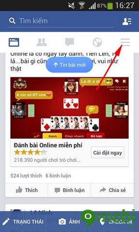 tat am thanh Facebook