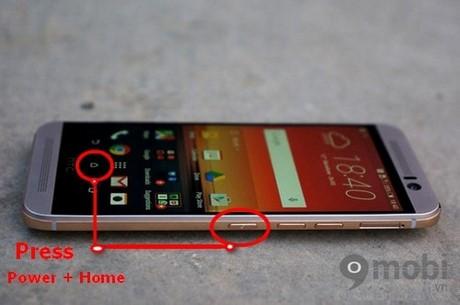 Take a screenshot HTC One M9