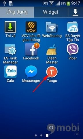 Guiding created account on Android Tango