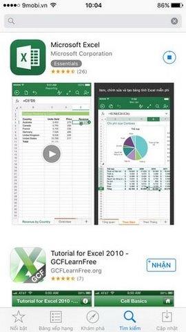 Excel cho iPhone, ứng dụng tạo bảng Excel trên iPhone