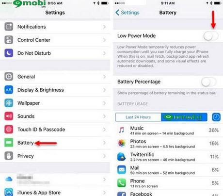 Tổng hợp các mẹo tiết kiệm pin trên iOS 9