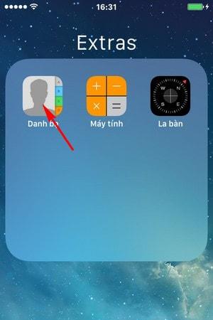 xoa danh ba iPhone