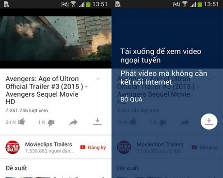 xem video youtube khong can mang