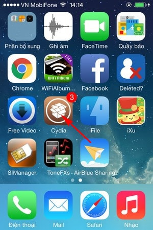 sap xep vi tri icon tren iPhone