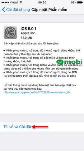 Cách cập nhật iOS 9.0.1 cho iPhone iPad, sửa lỗi iOS 9