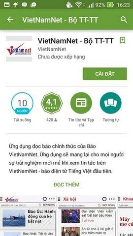 doc bao vietnamnet tren android
