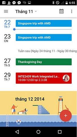 Hướng dẫn thêm sự kiện từ Gmail vào Lịch trên Android 5.0