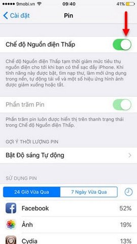 bieu tuong pin iphone mau vang