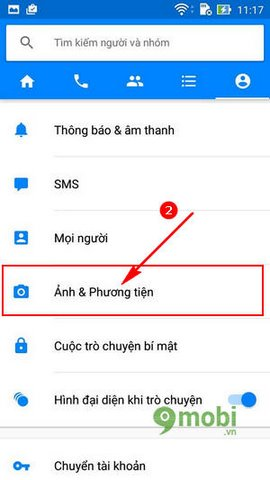 huong dan tat tu dong luu anh Facebook messenger