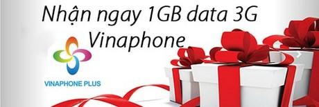 nhan ngay 1gb data 3g vinaphone