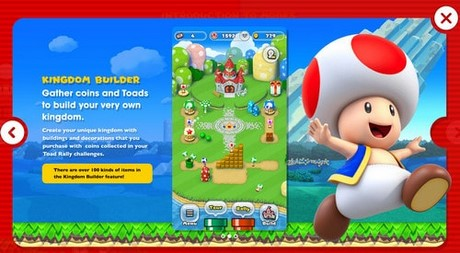 choi che do kingdom builder trong super mario run