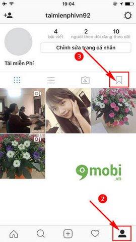 luu bai dang tren instagram