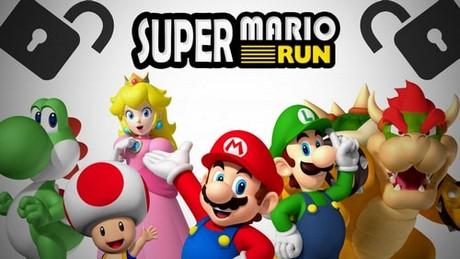 mo khoa nhan vat super Mario run