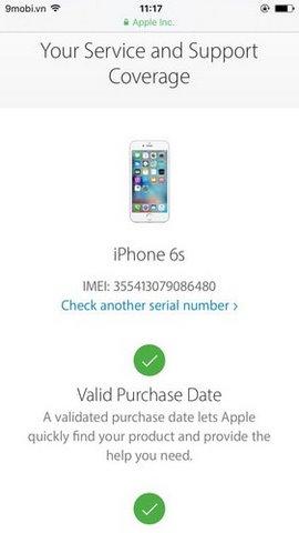 kiem tra imei iphone 6s