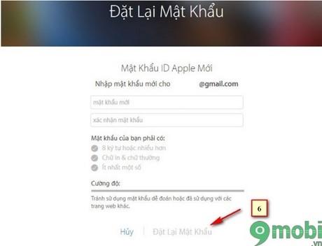 huong dan lay lai mat khau icloud bang gmail