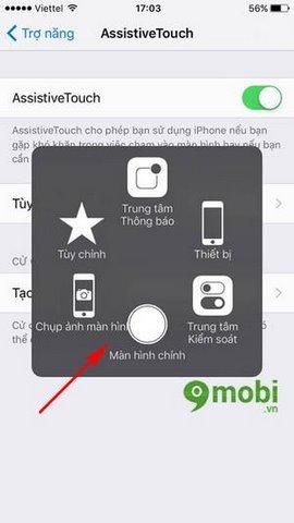 bat AssistiveTouch cho iPhone 7