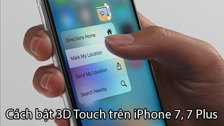 bat 3d touch iPhone 7, 7 Plus