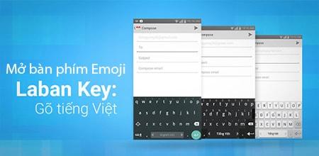 cach mo ban phim emoji tren laban key cho Android