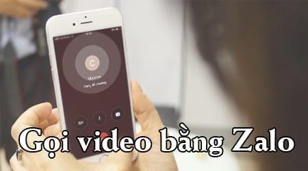goi video zalo tren iphone