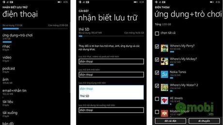 di chuyen ung dung sang the nho tren Windows Phone 8.1