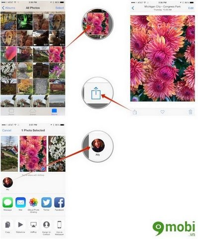 Guide AirDrop sharing data between iPhone, iPad and MAC