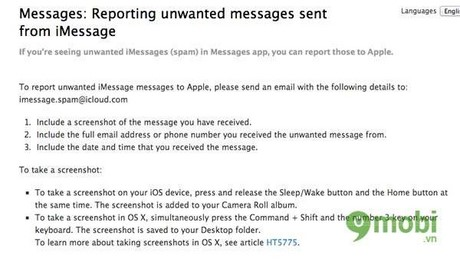How to block spam messages on iMessage