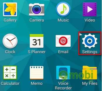 Samsung Galaxy S5 - On the Home screen without keys, Power