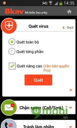 bkav mobile security mien phi
