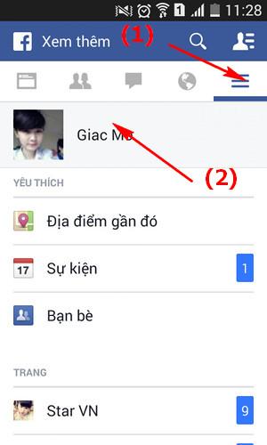 thay avatar facebook trên Android