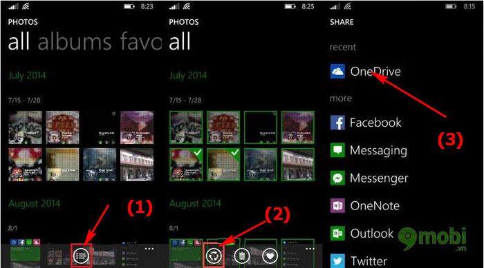 Đồng bộ ảnh lên OneDrive từ Nokia Lumia