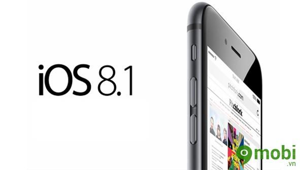 ngừng hạ cấp xuống iOS 8.1