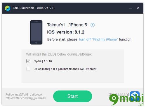 cach jailbreak iOS 8.1.2 tren iphone 6 plus, 6, ip 5s, 5, 4s, 4