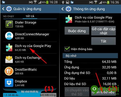 cách quản lý Google Play Services