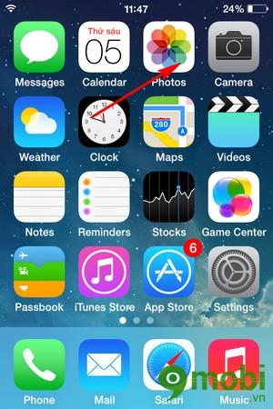 cách vào Photo Stream trên iPhone