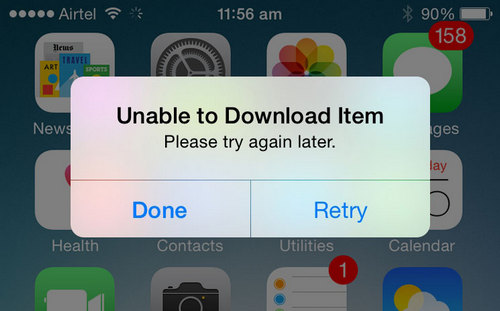 huong dan sua loi unable to download item tren iphone