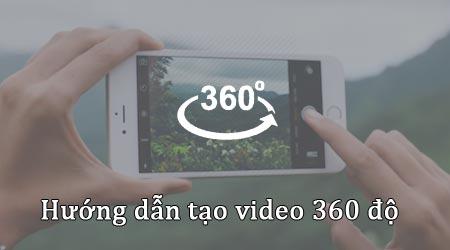 tao video 360 do tren dien thoai iphone